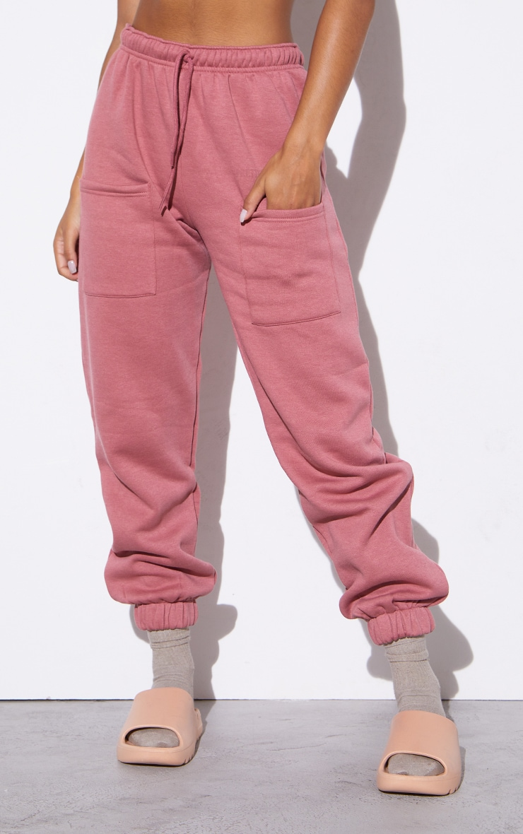 RENEW PRETTYLITTLETHING Washed Red Pocket Front Joggers 2