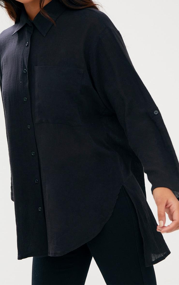 Chemise en étamine noire 5
