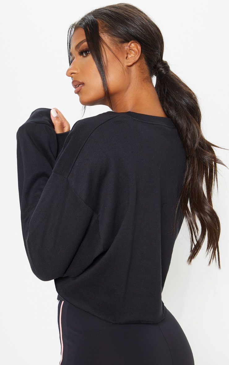 Black Namaste Cropped Yoga Sweat 2