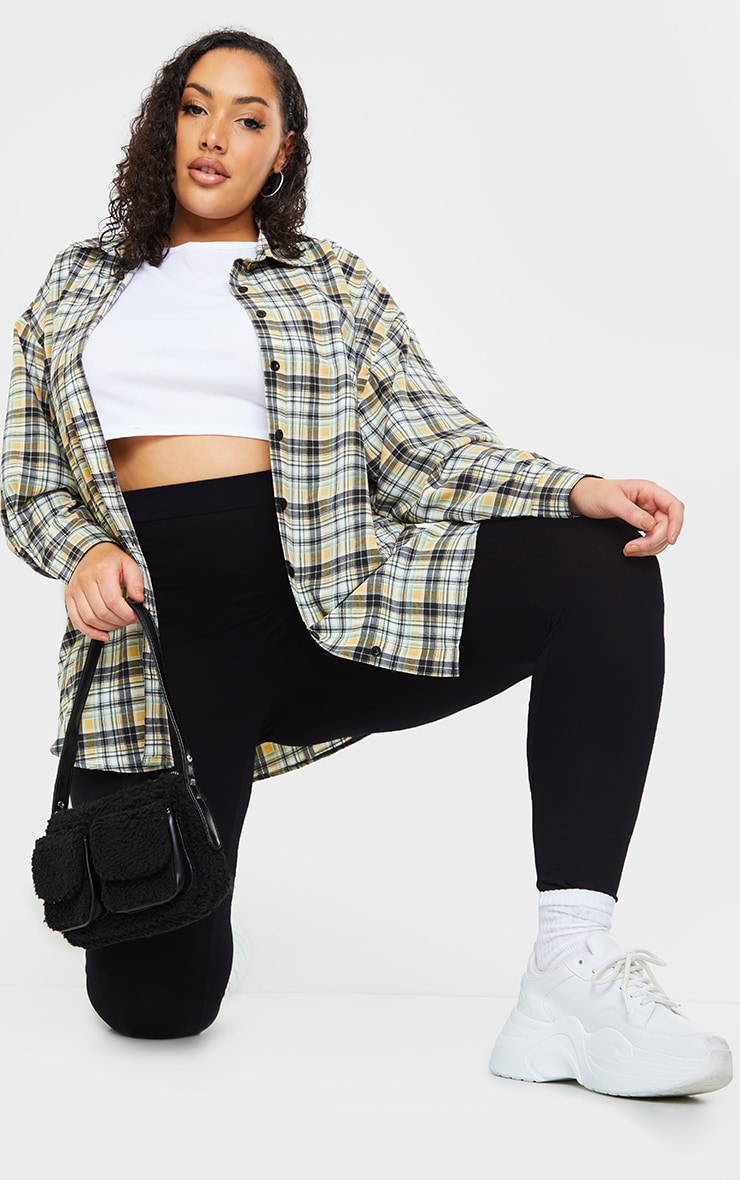 Plus White Check Batwing Shirt 3