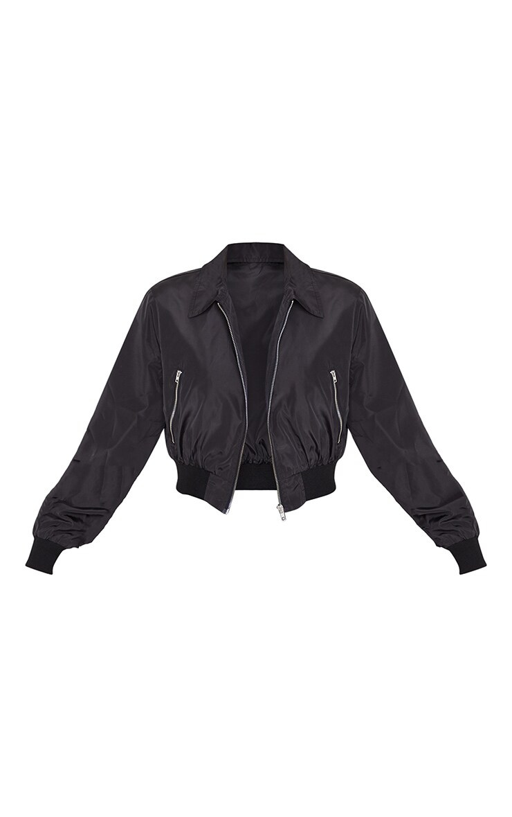 Black Zip Up Collar Bomber 3
