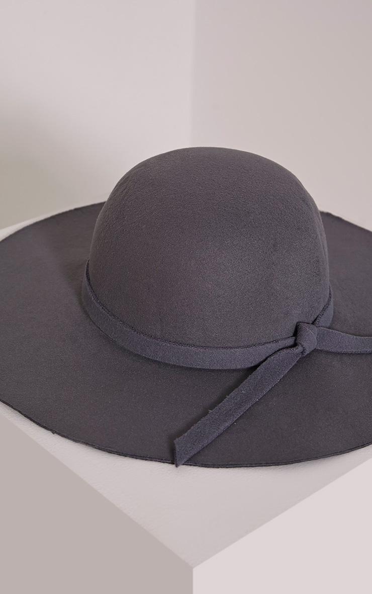 Rika Grey Floppy Hat 3