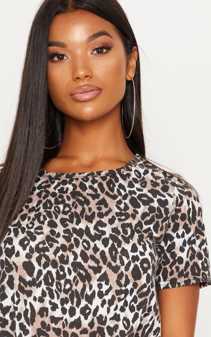 Tan Leopard Print Tshirt 5