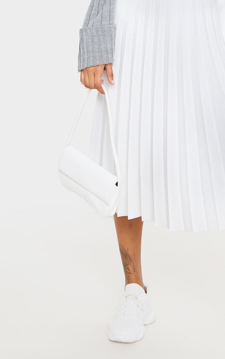 Cream Pleated Floaty Midi Skirt 5