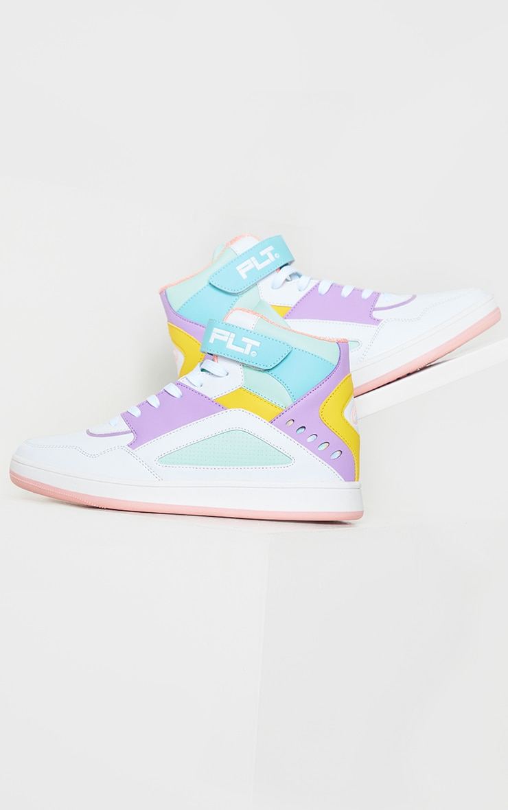 PRETTYLITTLETHING Multi Strap High Top Trainers 3