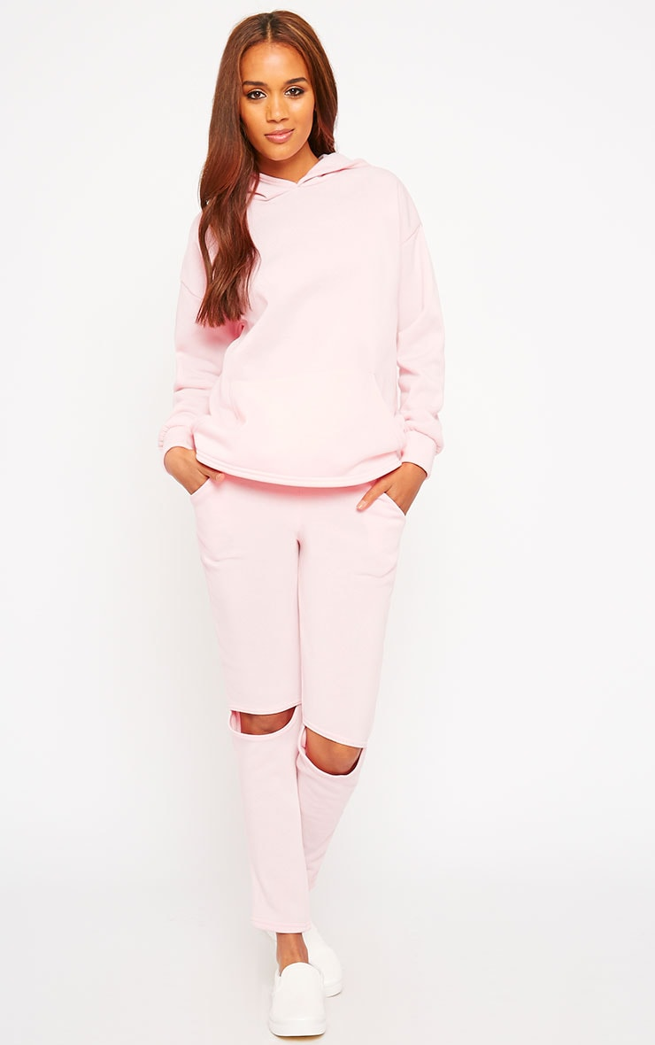 Dionne Pink Slit Elbow Sweater 3