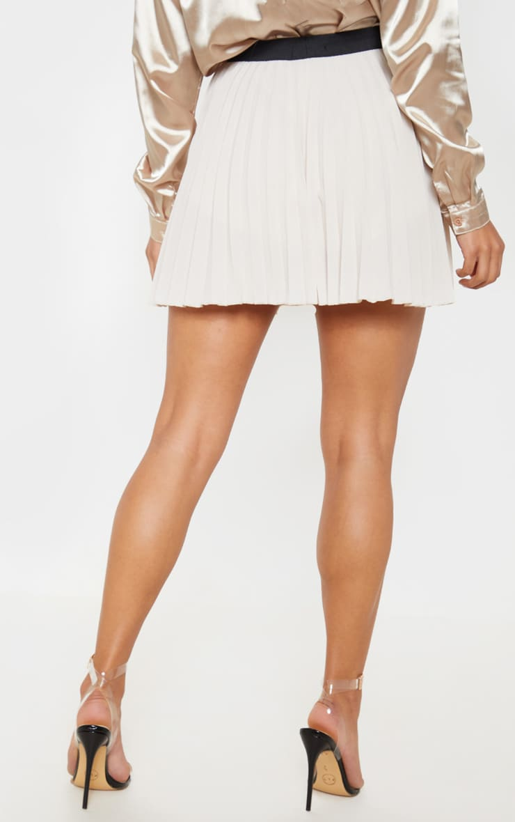 Stone Pleated Mini Skirt 4