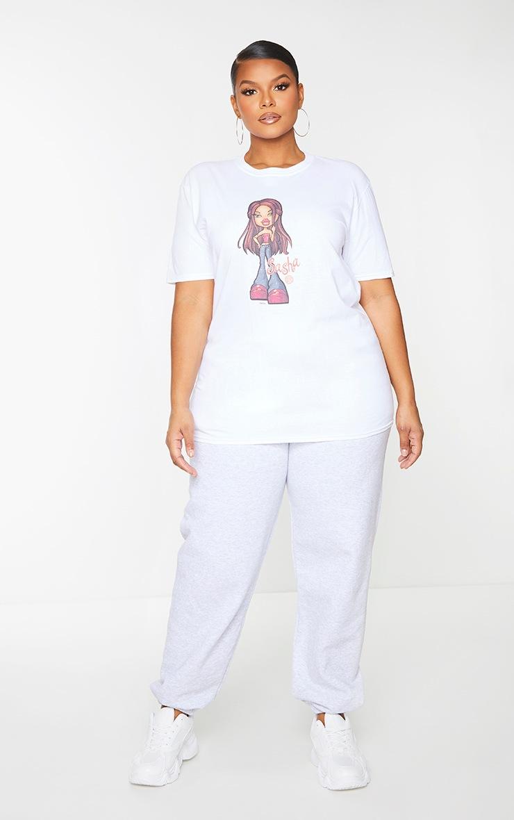 Plus White Sasha Bratz T Shirt 3