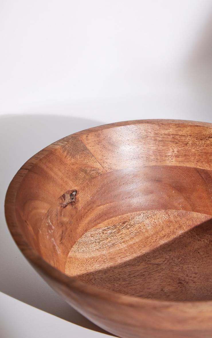 Brown Wooden Salad Bowl 5