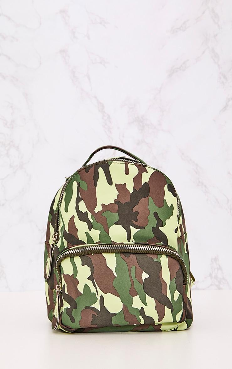 Green Camo Mini Backpack 2