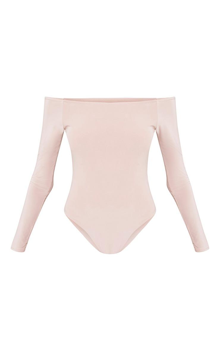 Rossalyn Nude Slinky Bardot Bodysuit 3