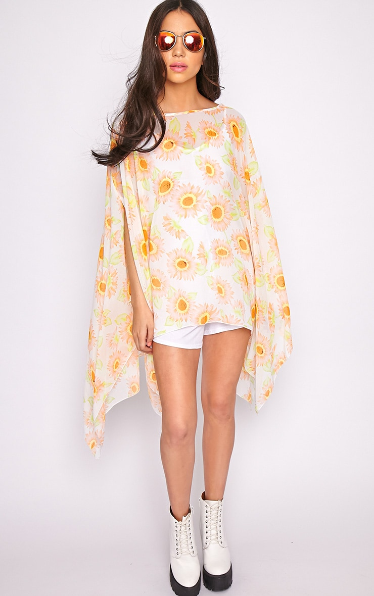 Layla Orange Flower Kaftan 4
