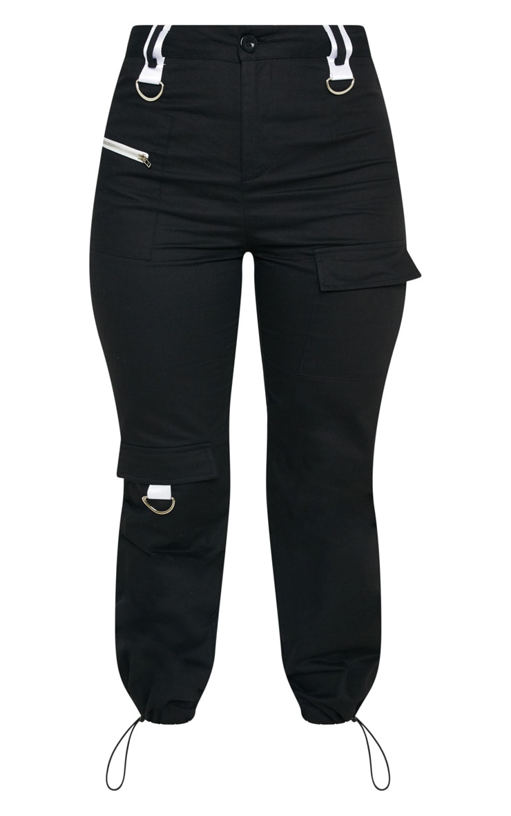 Black Pocket Detail Cargo Trouser 4