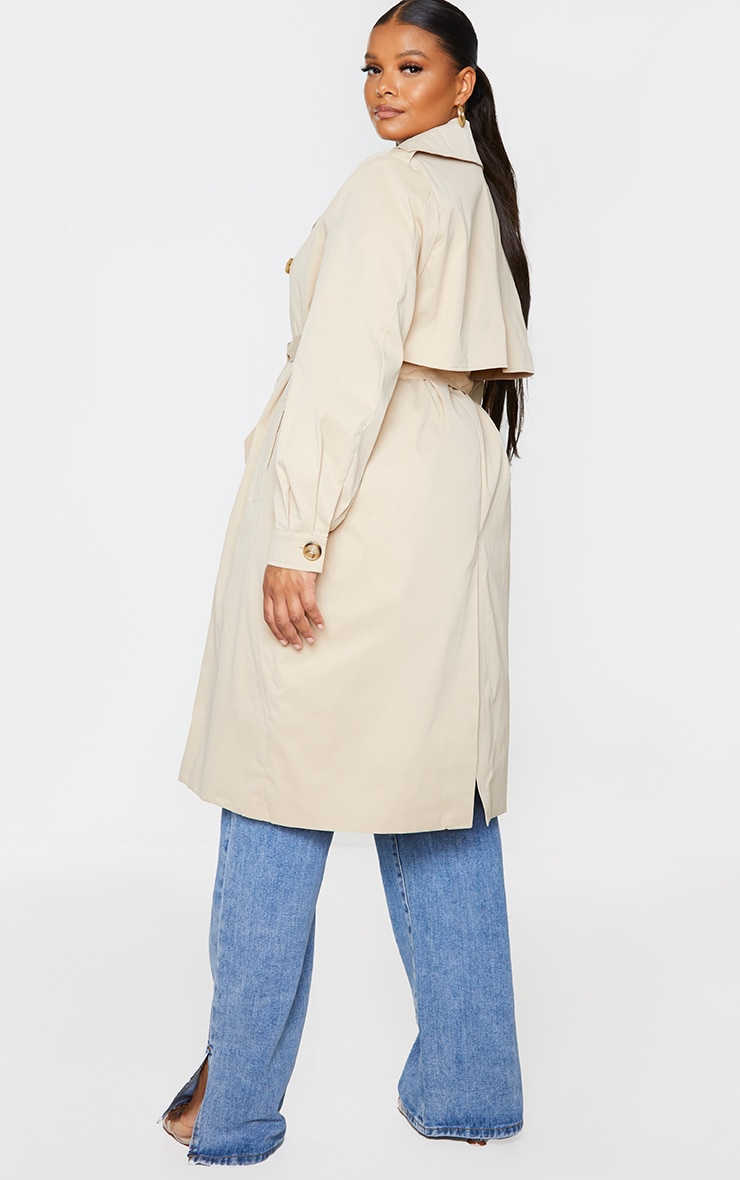 Plus Stone LightWeight Belted Trench Coat 2