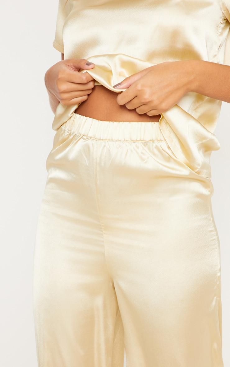 Champagne Basic Satin Long Pyjama Bottom 4