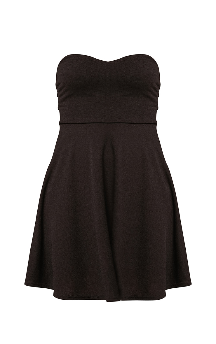 Black Bandeau Skater Dress 3