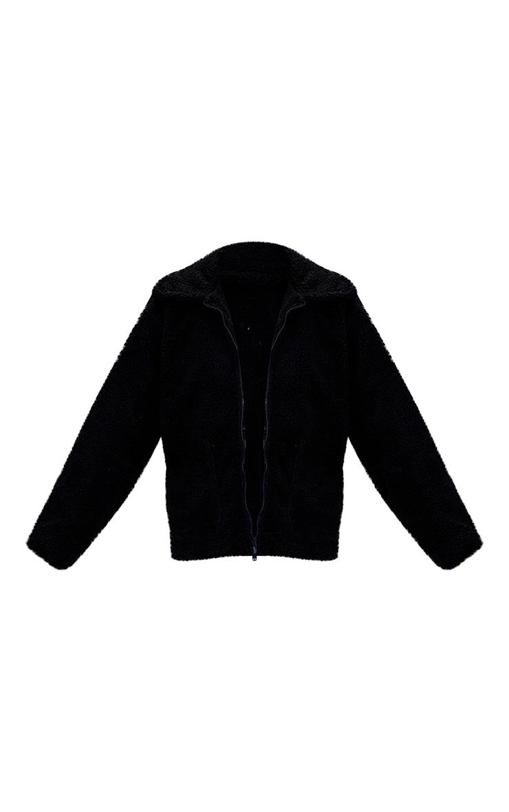 Black Borg Zip Up Oversized Jacket 5