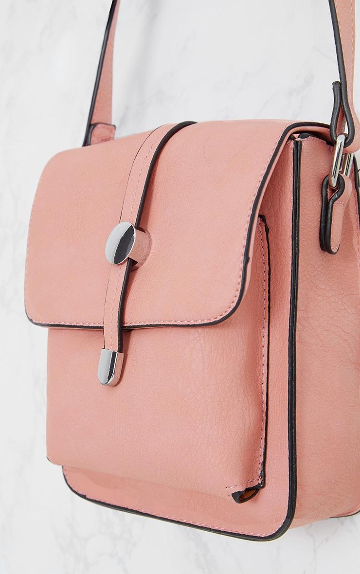 Light Pink Cross Body Strap Bag 5