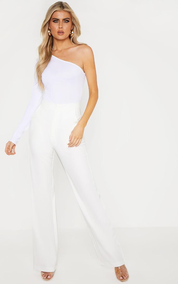 Tall Cream High Waist Wide Leg Trouser 1