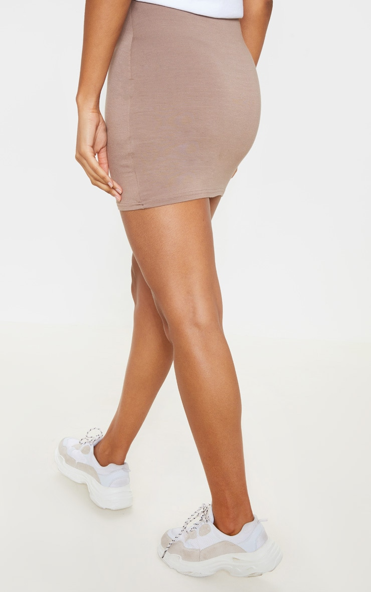 Taupe Ultimate Jersey Mini Skirt 4