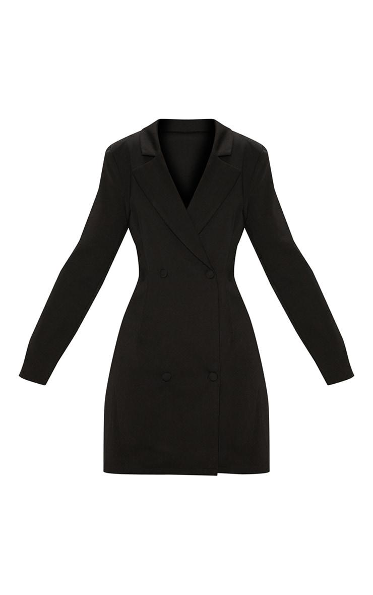 Black Long Sleeve Blazer Dress 3