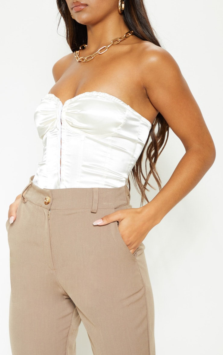 Mocha Woven High Waist Pocket Detail Skinny Trouser 5