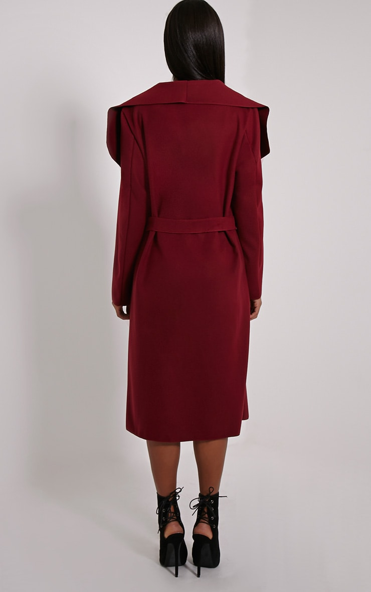 Veronica Oxblood Waterfall Coat 2