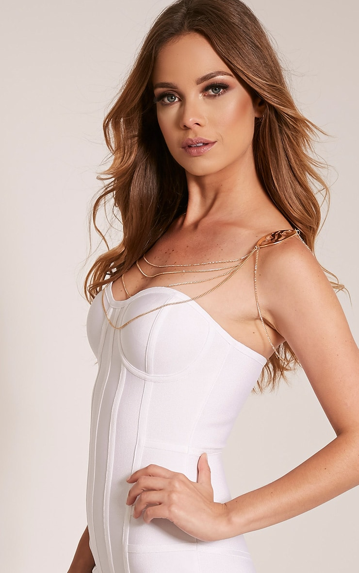 Louina Gold Shoulder Detail Chain Harness 2