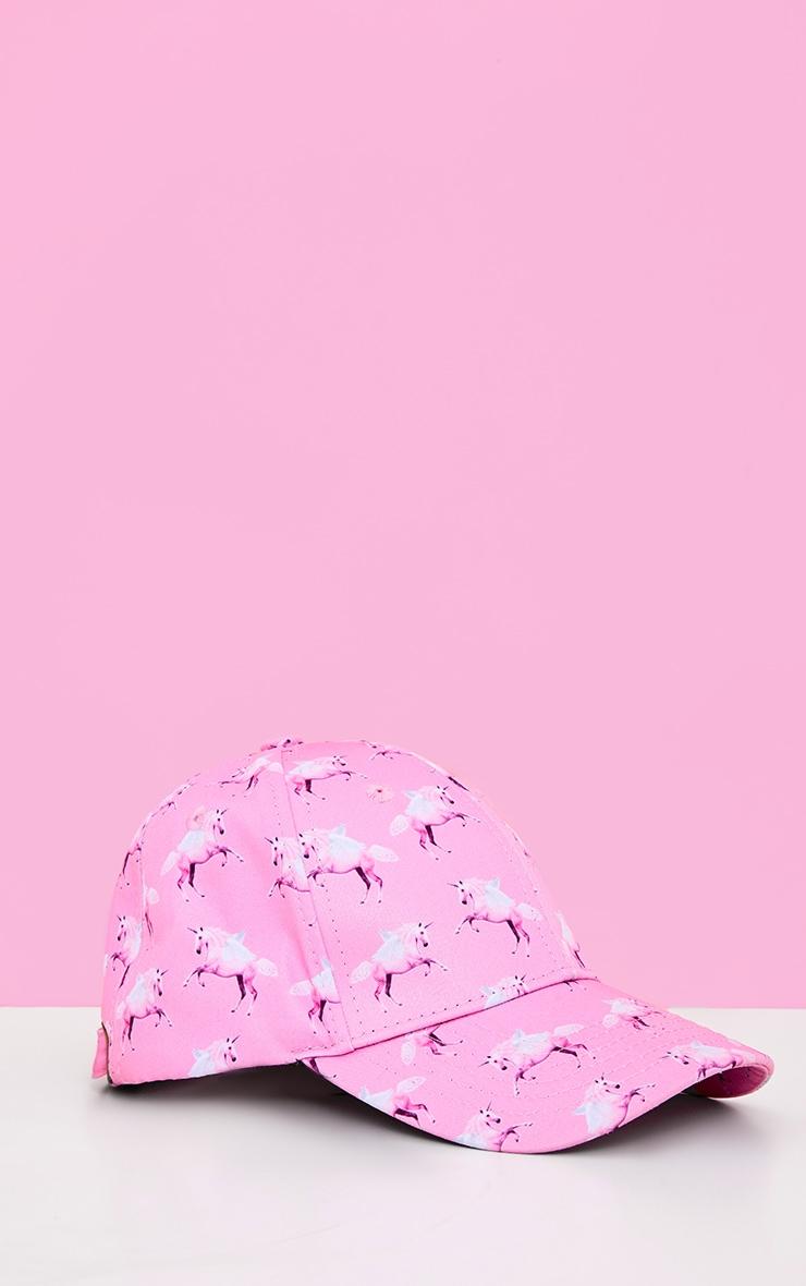 PRETTYLITTLETHING Unicorn Pink Baseball Cap 2