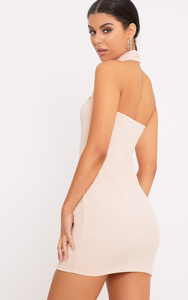 Corin Nude Strap Detail Bodycon Dress  2