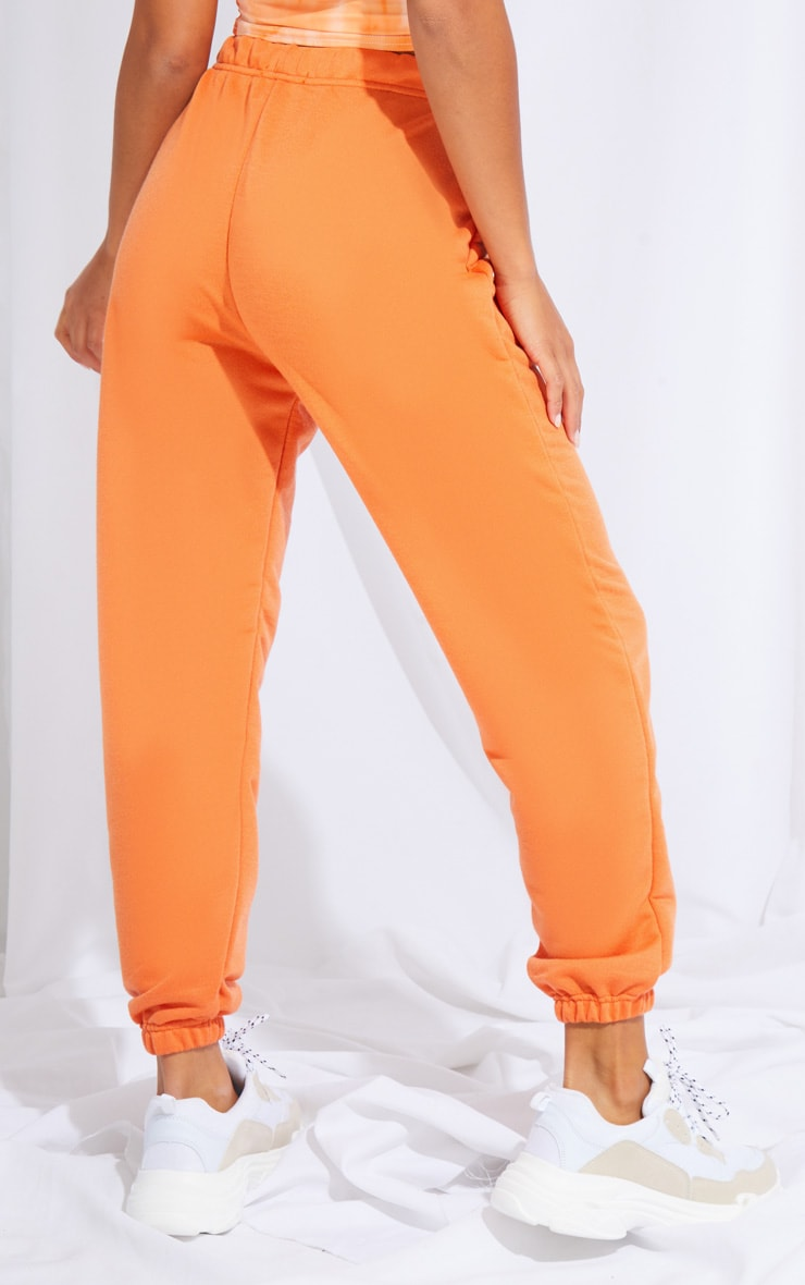 Petite Burnt Orange Basic Cuffed Hem Joggers 3