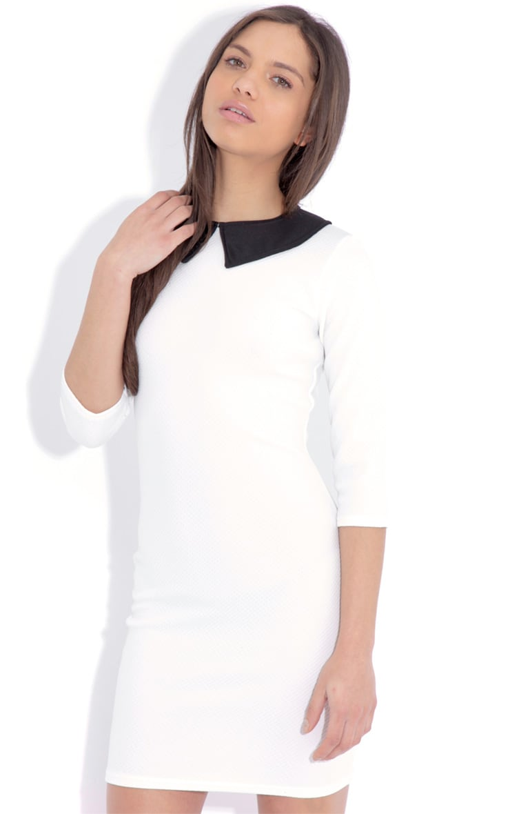 Evie White Collar Dress 1
