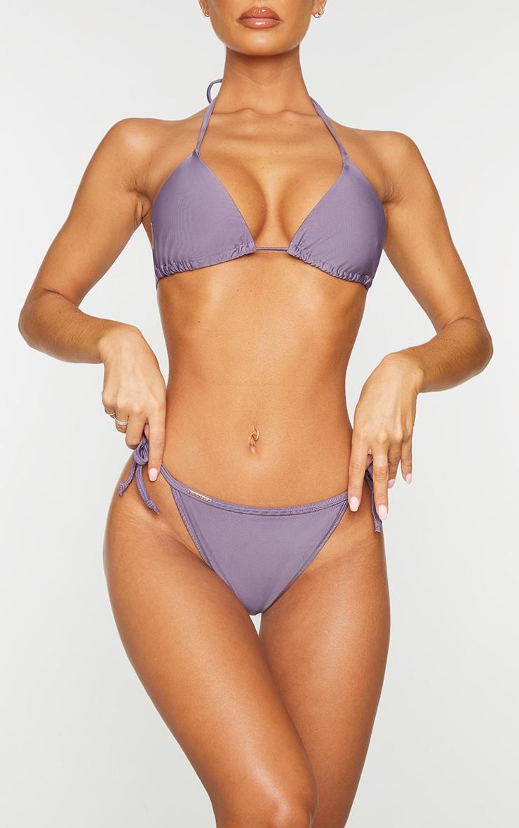 Aubergine Mix & Match Tie Side Bikini Bottoms 1