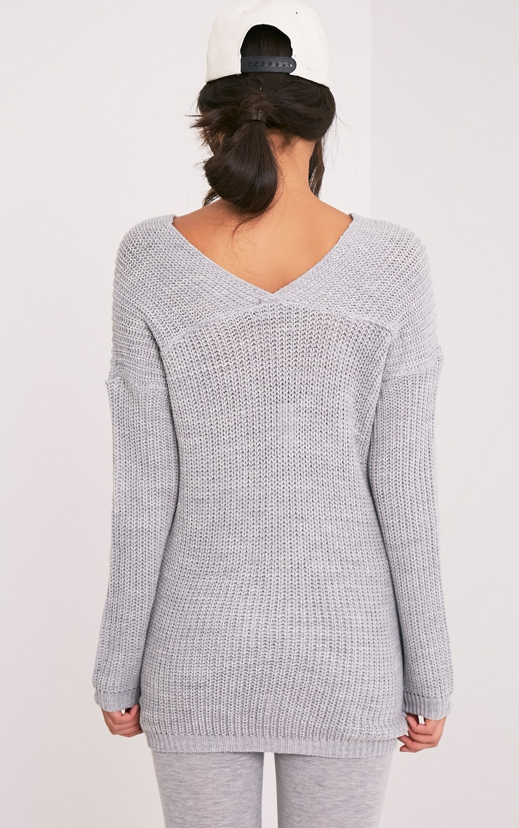 Hollilia Grey V Hem Jumper 2