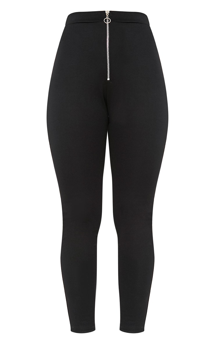 Black Ring Zip Leggings 3