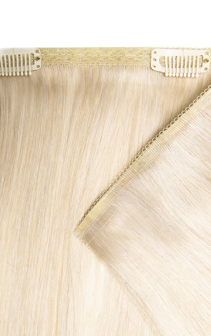 Beauty Works Double Hair Set Weft 18 Inch Pure Platinum 50 Grams 3