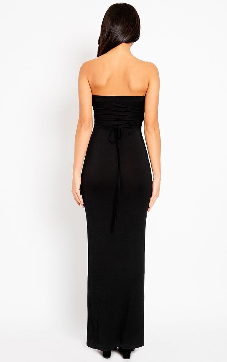 Basic Black Bandeau Maxi Dress 2