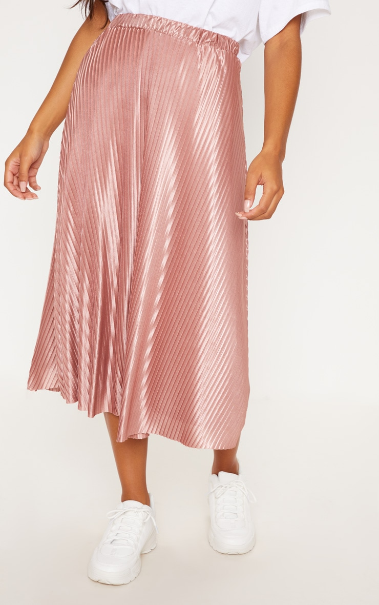 Rose Pleated Full Midi Skirt 2