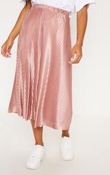 Rose Pleated Full Midi Skirt 2