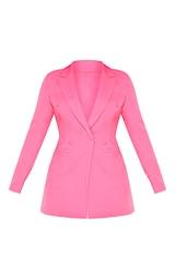 Bubblegum Pink Double Breasted Woven Blazer 4
