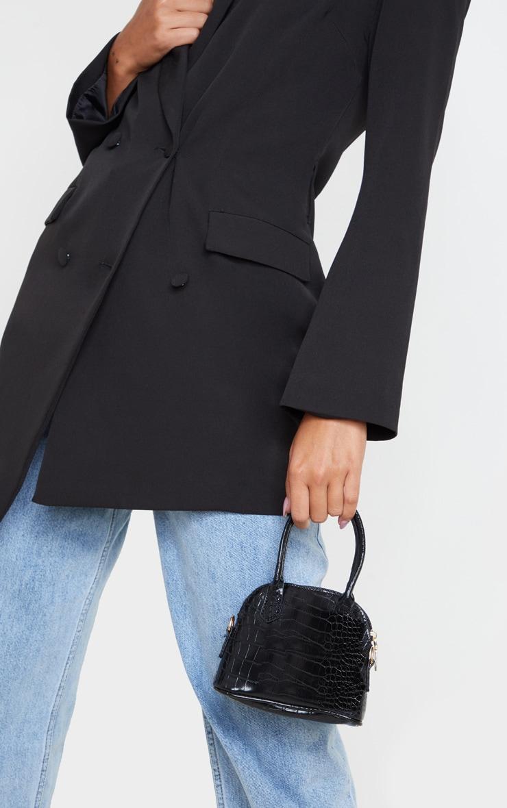 Black Croc Mini Grab Bag 1