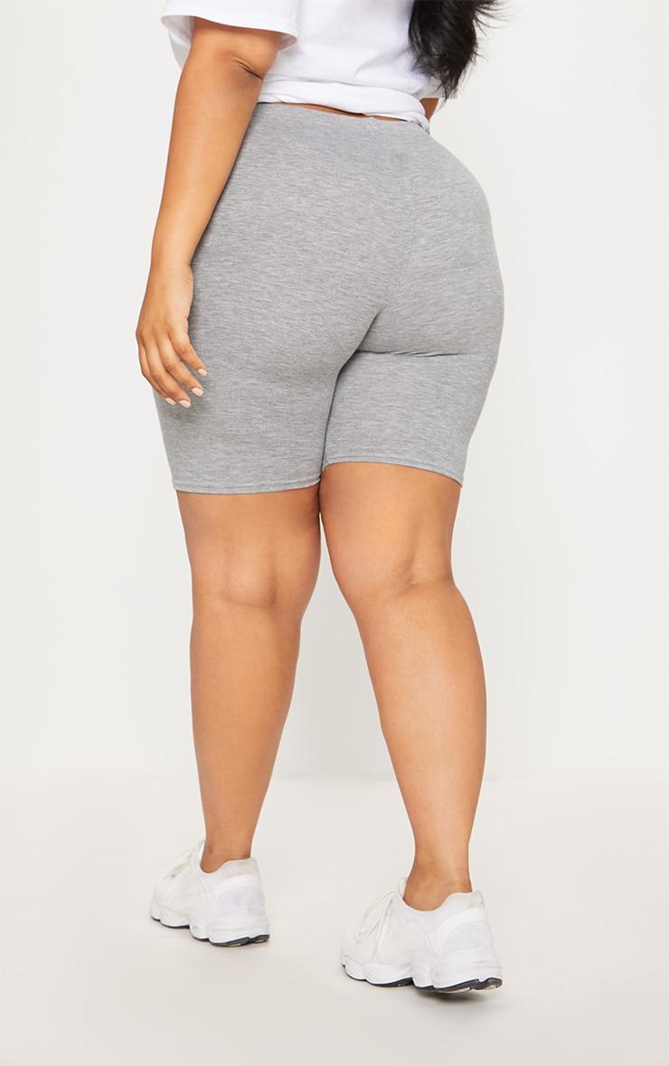 Plus Grey Marl Basic Cycle Shorts 4