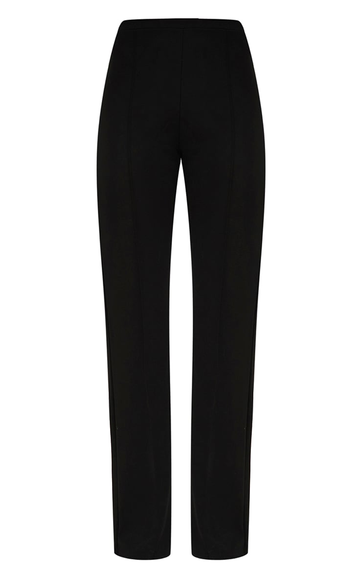 Black Front Seam Wide Leg Trousers 3