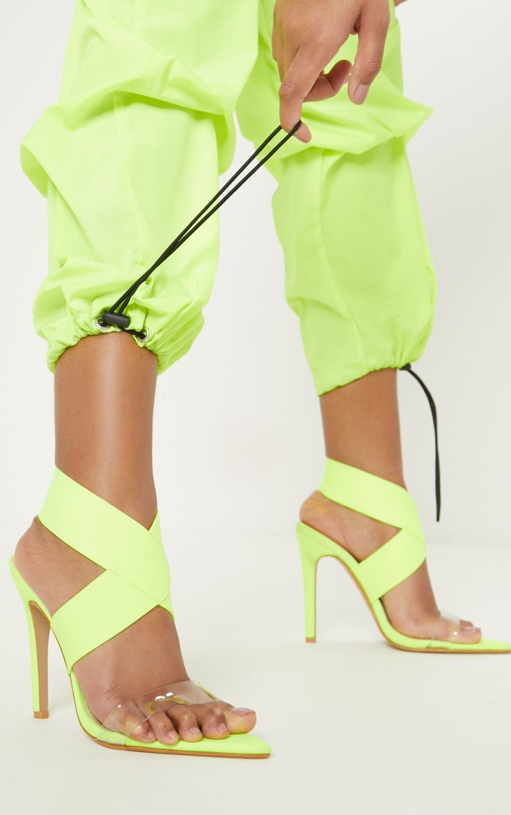 Lime Point Toe Lycra Slingback Sandal 2