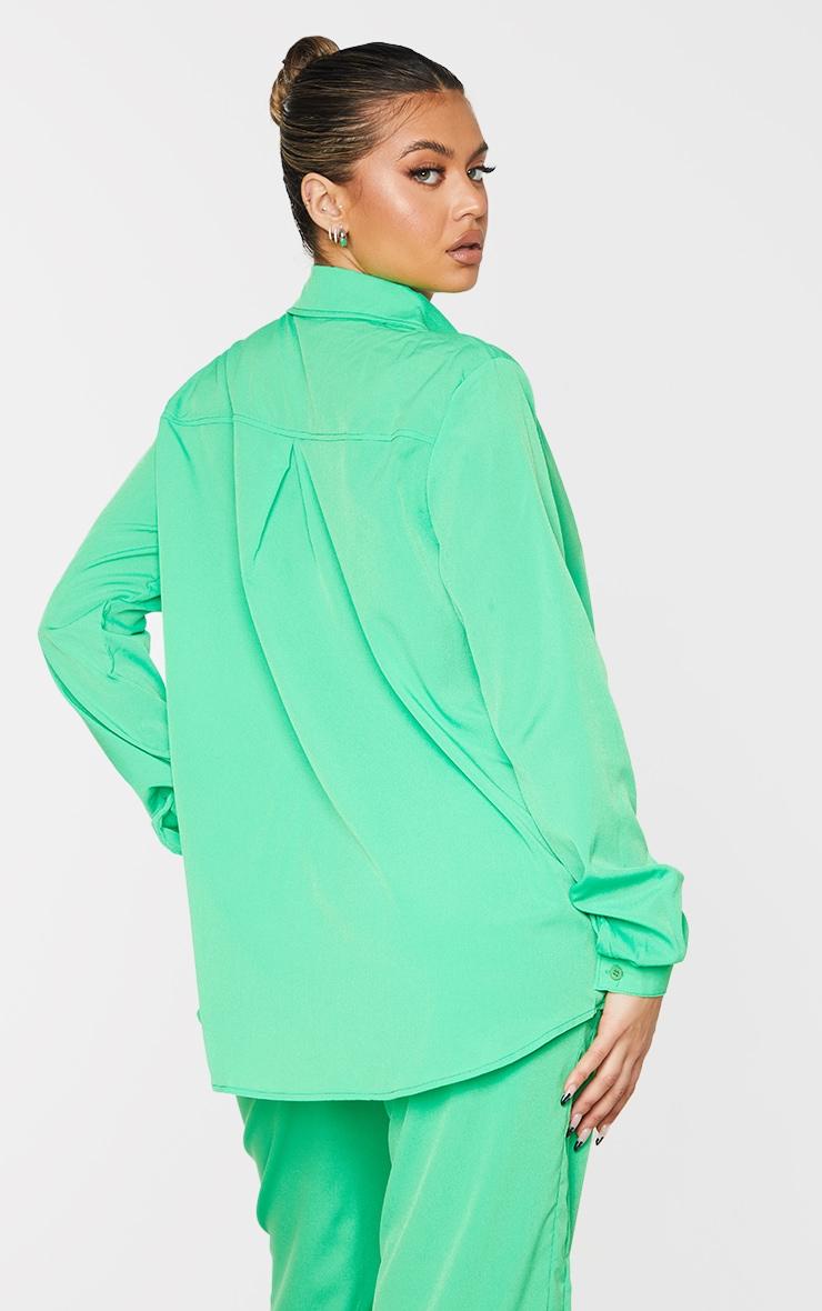 Bright Green Oversized Long Sleeve Shirt 2