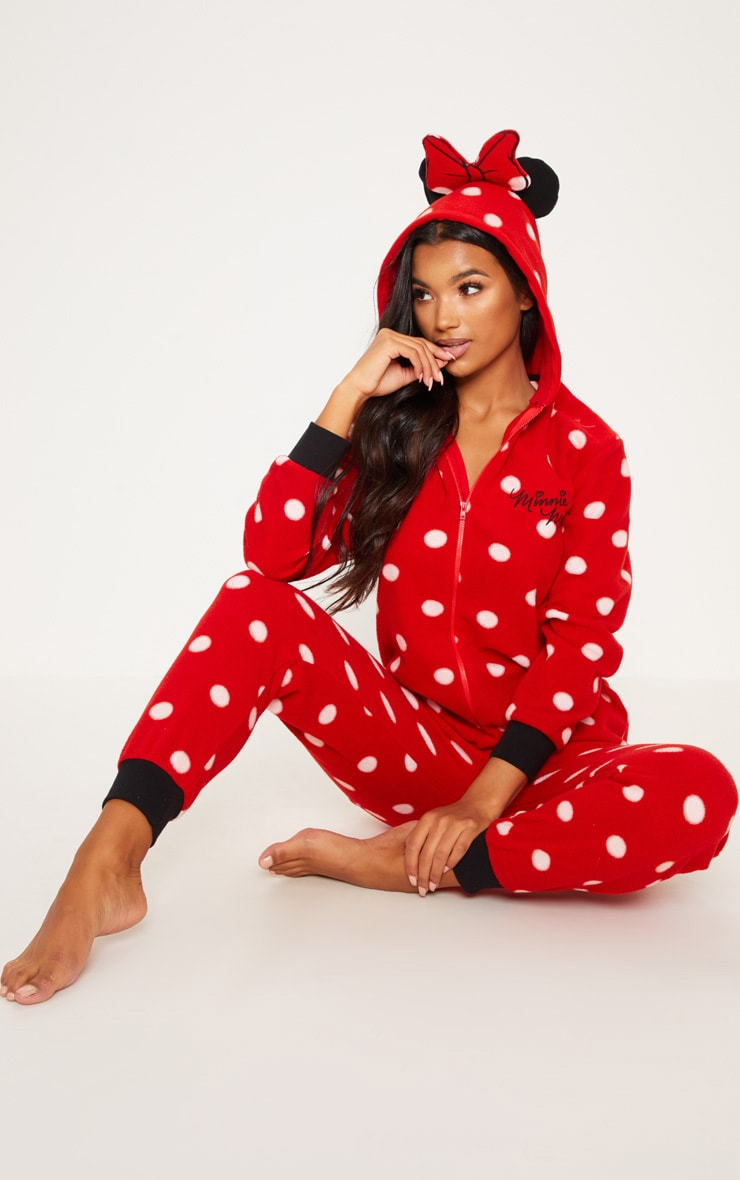 en gros meilleur endroit pour emballage fort Red Disney Minnie Mouse Polka Dot Onesie