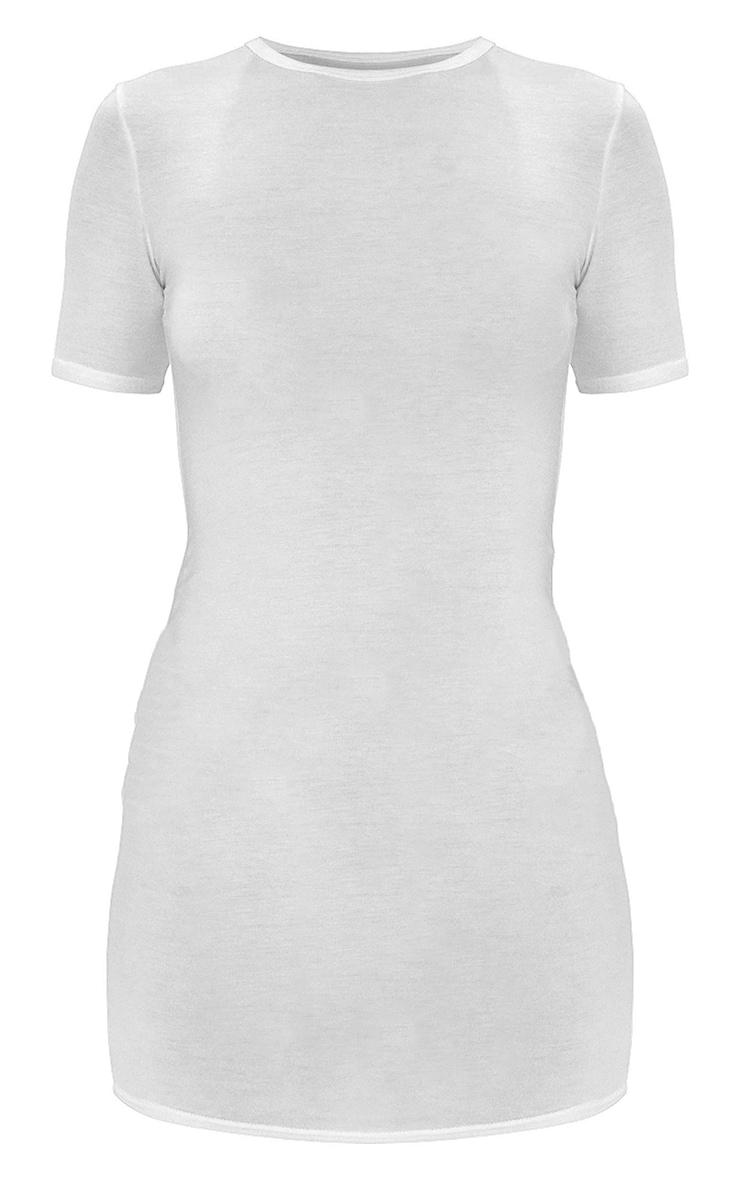 White Short Sleeve Bodycon Dress 6