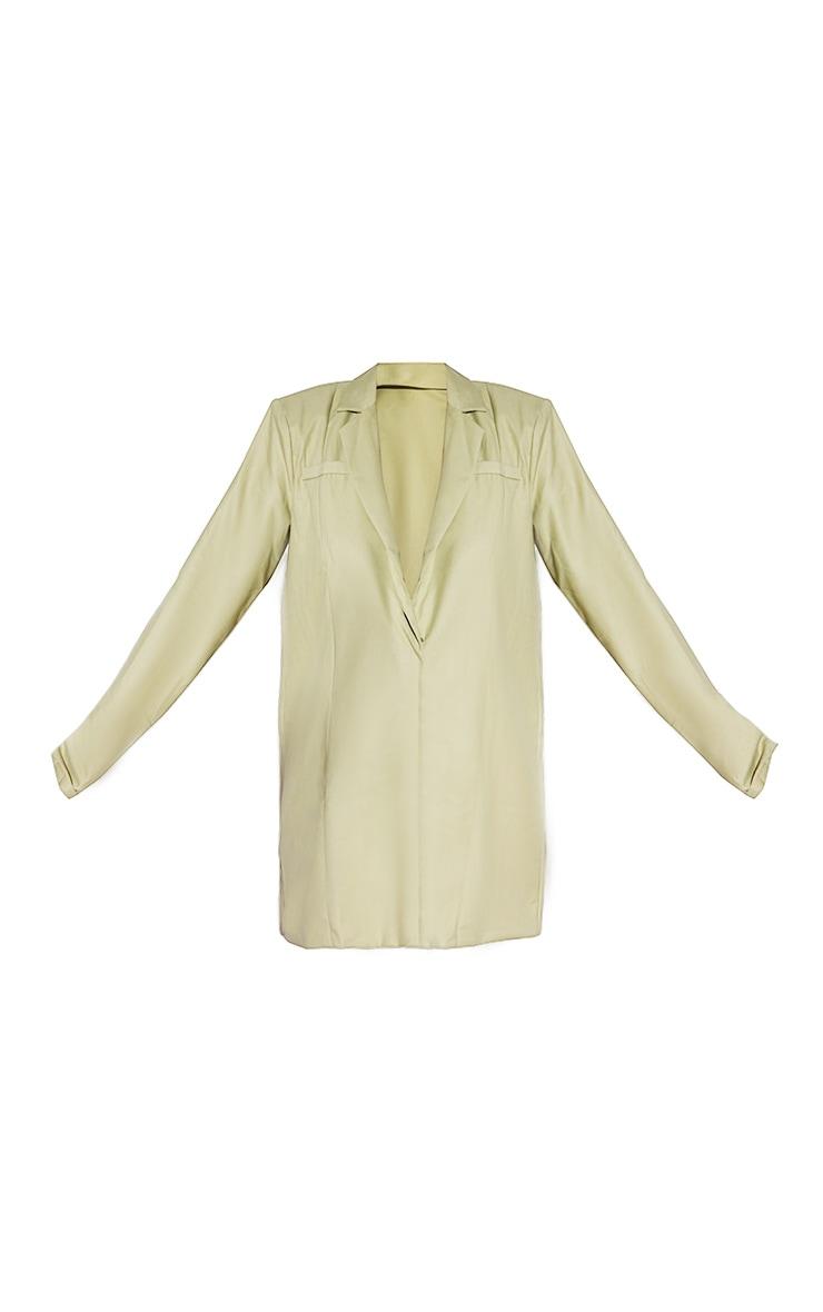 Sage Green Oversized Blazer Dress 5