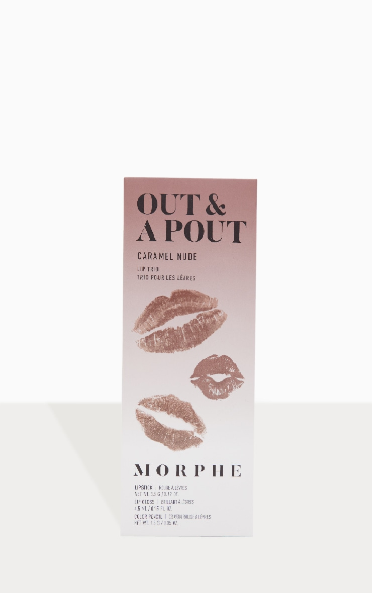 Morphe Out And a Pout Lip Trio Caramel Nude 3