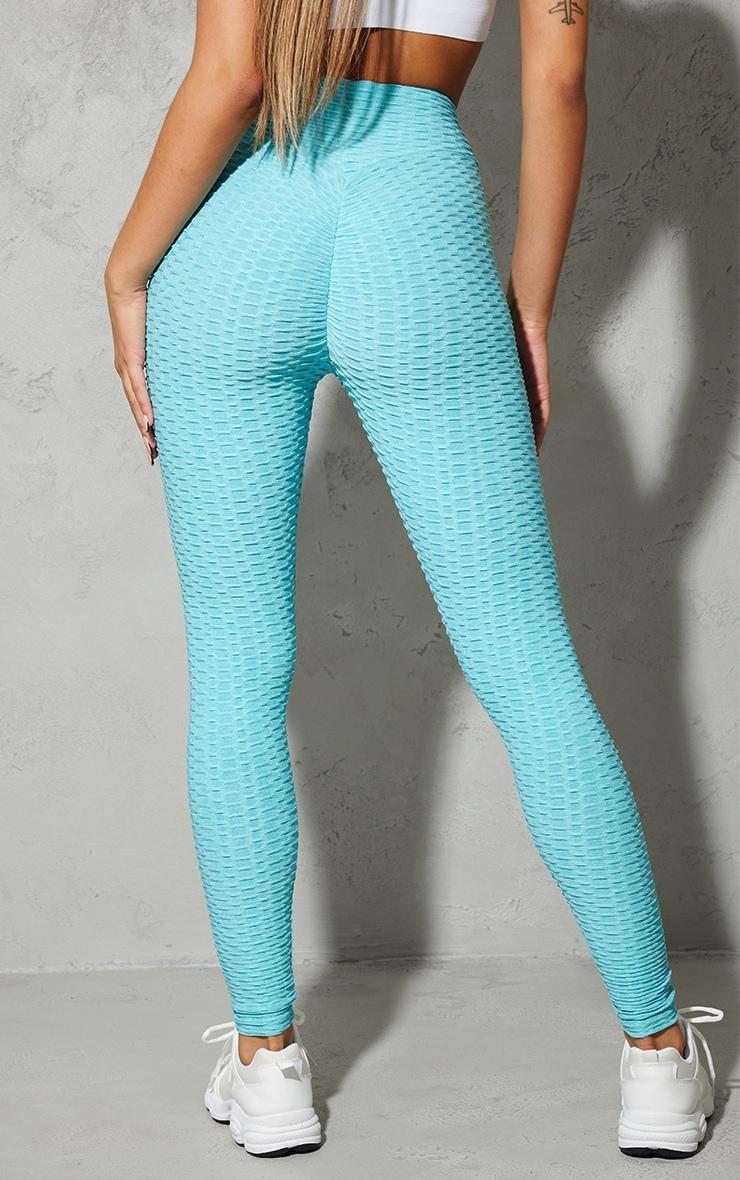Blue Bubble Scrunch Butt Gym Leggings 3